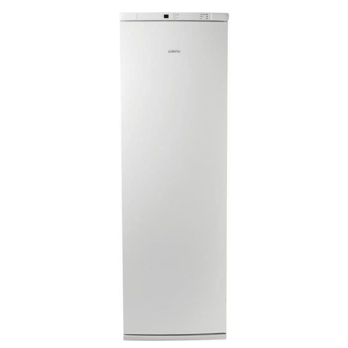 OCEANIC CUF251NF - Congélateur armoire - 251L - Froid ventilé - A+ - L 59,5cm x H 185cm - Blanc