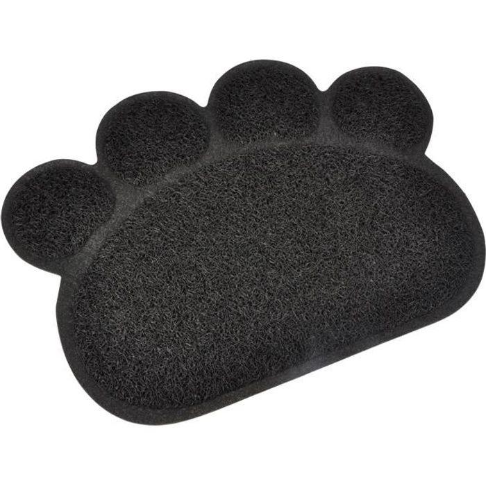 Tapis de litière PVC Pattou - 30x40 cm - Noir - Pour chat