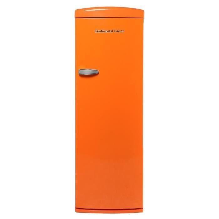 CONTINENTAL EDISON CE1DF311OV - Réfrigérateur 1 porte - 311L - Froid brassé - A+ - L 60,5cm x H 176,9cm - Orange