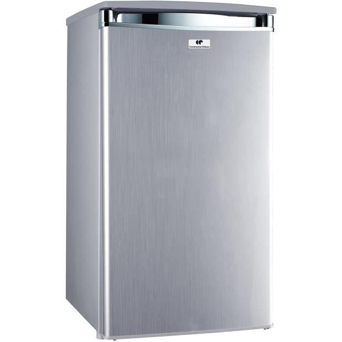 Continental edison certt91s2 réfrigérateur table top 91l froid statique a l445 x h831cm silver