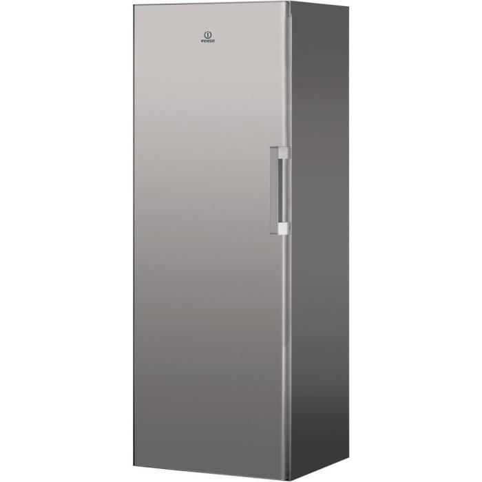 INDESIT UI6F1TS - Congélateur armoire - 222 L - Froid ventilé - A+ - L 59,5 x H 167 cm - Silver