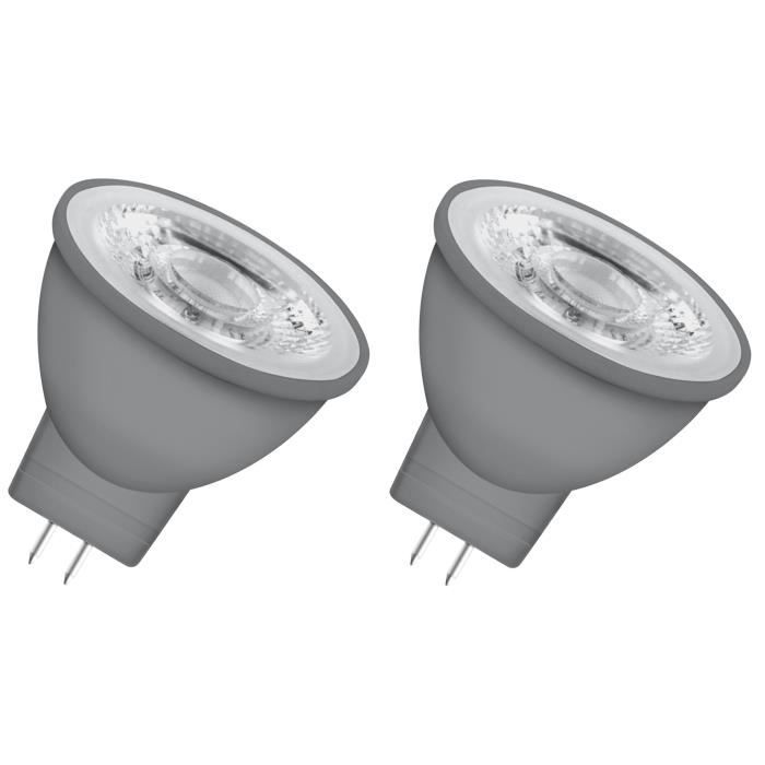 OSRAM Lot de 2 Ampoules spot LED MR11 GU4 2,9 W équivalent à 20 W blanc chaud