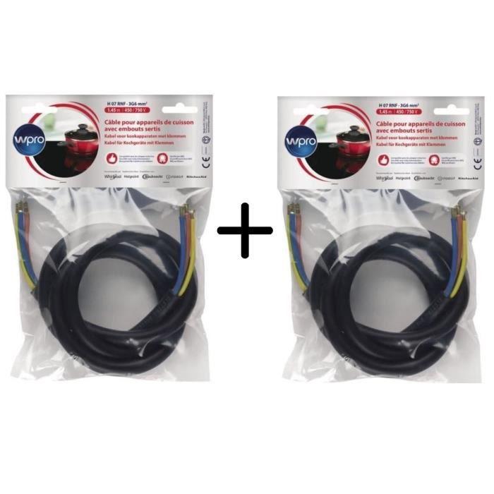 PACK WPRO CAB360/1 Câble Electrique 1.45m (> 5750 watts) X2
