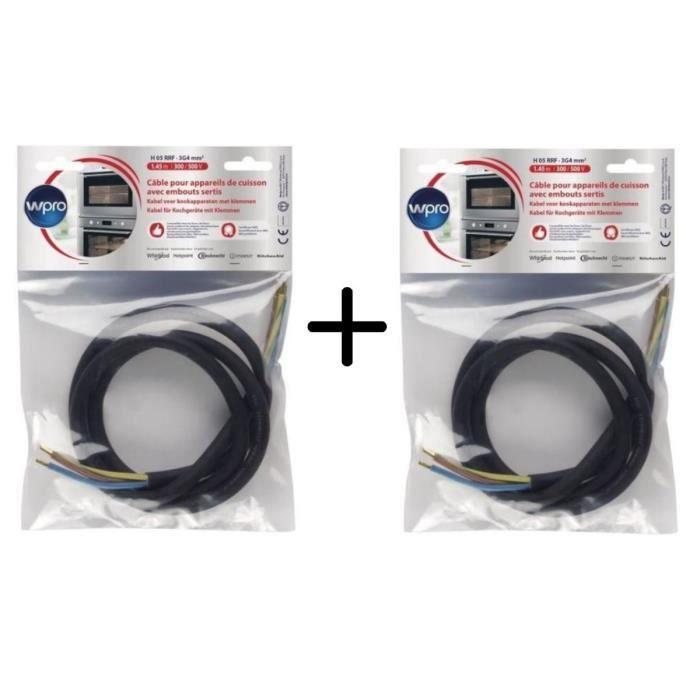 PACK WPRO CCB3401 Câble Electrique 1.45m (< 5750 watts) X2