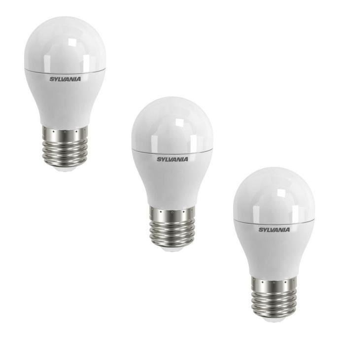 SYLVANIA Lot de 3 ampoules LED Toledo Ball FR E27 6 W équivalent à 40 W