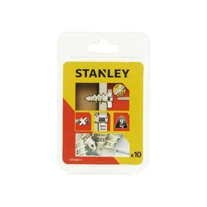 STANLEY Kit de 10 chevilles auto foreuses en nylon 25mm avec vis STF30211-XJ
