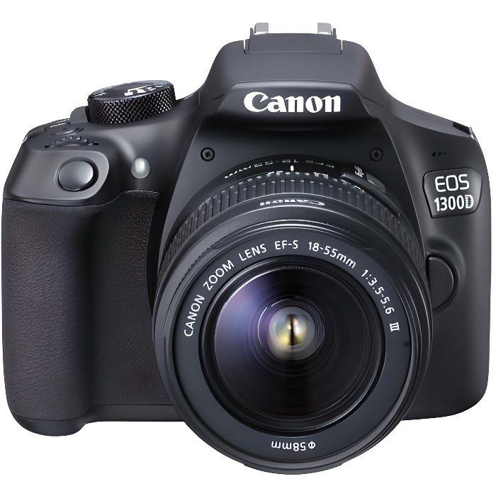 f1e5388c5746e0 CANON EOS 1300D Appareil photo Reflex Débutant + EF-S 18-55mm DC III -  Capteur CMOS - 18 mégapixels