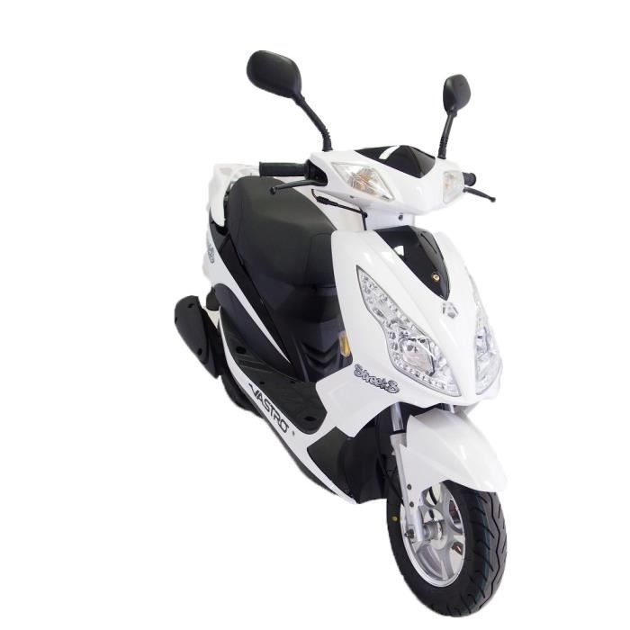 vastro scooter 50 street s blanc achat vente scooter. Black Bedroom Furniture Sets. Home Design Ideas