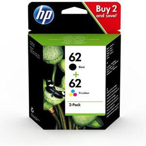 CARTOUCHE IMPRIMANTE HP 62 pack de 2 cartouches authentiques d'encre no