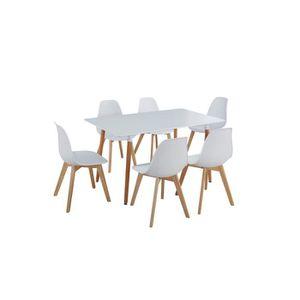 TABLE À MANGER COMPLÈTE Ensemble table à manger de 6 à 8 personnes MARIO +