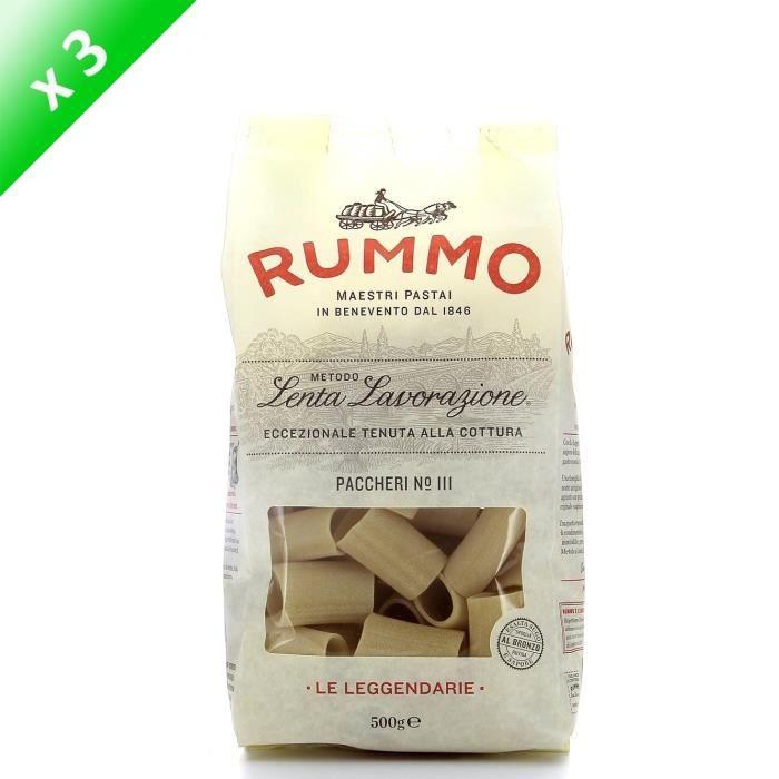 PÂTES ALIMENTAIRES RUMMO Lot de 3 Paccheri N°111 - 500 g