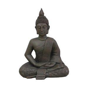 HOUSSE DE COUETTE HOMEA Bouddha déco 47x30xH60 cm chocolat