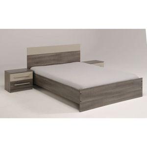 lit avec chevet integre achat vente lit avec chevet integre pas cher soldes d s le 10. Black Bedroom Furniture Sets. Home Design Ideas