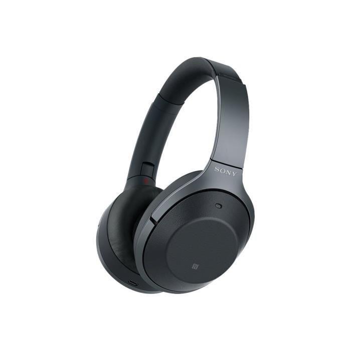 Sony Wh-1000xm2 Casque Avec Micro Pleine Taille Sans Fil Bluetooth Nfc* Suppresseur De Bruit Actif Noir