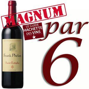 VIN ROUGE Magnum Frank Phélan Saint Estèphe 2011 x6