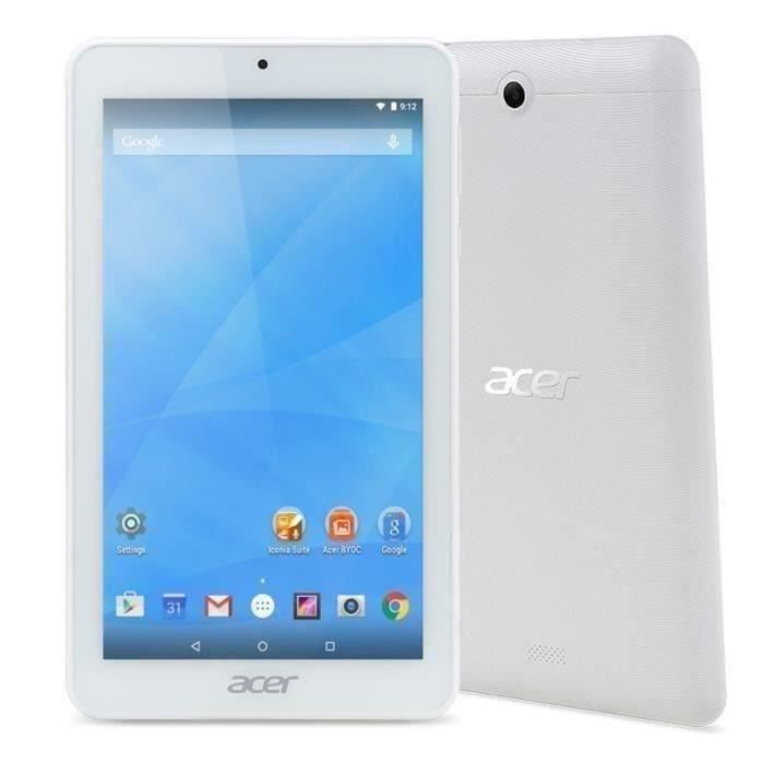 """TABLETTE TACTILE Acer Tablette 7"""" iconia One 7 B1-770 Blanc - 16Go"""