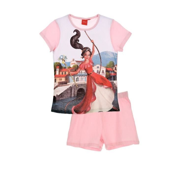 Ensemble de vêtements ELENA D'AVALOR Ensemble Pyjacourt Rose Sérigraphié