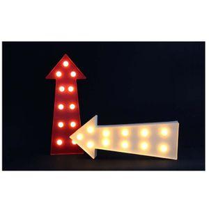 OBJETS LUMINEUX DÉCO  Flèche lumineuse LED 0,06 W 19x5 cm rouge