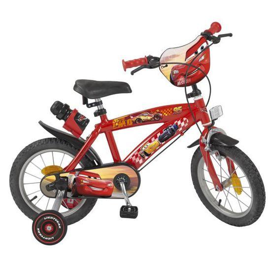 """Vélo Enfant CARS Rouge - 14"""""""