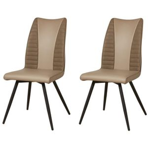 Chaise de salle a manger couleur taupe - Achat / Vente pas cher