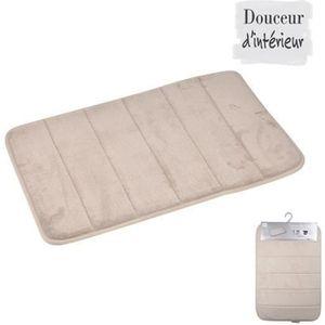 tapis de bain achat vente tapis de bain pas cher cdiscount. Black Bedroom Furniture Sets. Home Design Ideas