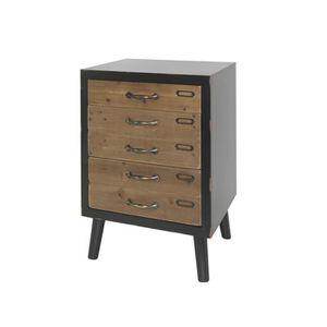 petit meuble bois achat vente petit meuble bois pas cher soldes d s le 10 janvier cdiscount. Black Bedroom Furniture Sets. Home Design Ideas