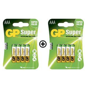 FLOCON DE MAÏS GP Batteries - Lot de 8 Piles AAA LR03