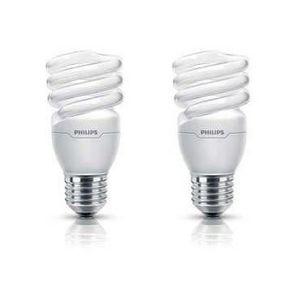 AMPOULE - LED PHILIPS Lot de 2 Ampoules fluo-compacte 15W E27