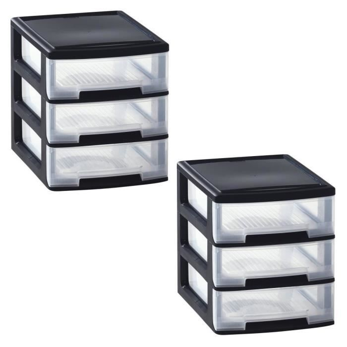boite de rangement plastique avec tiroir achat vente pas cher. Black Bedroom Furniture Sets. Home Design Ideas