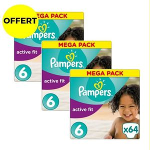 COUCHE PAMPERS Active Fit T6 - 15+kg - 192 couches - Form