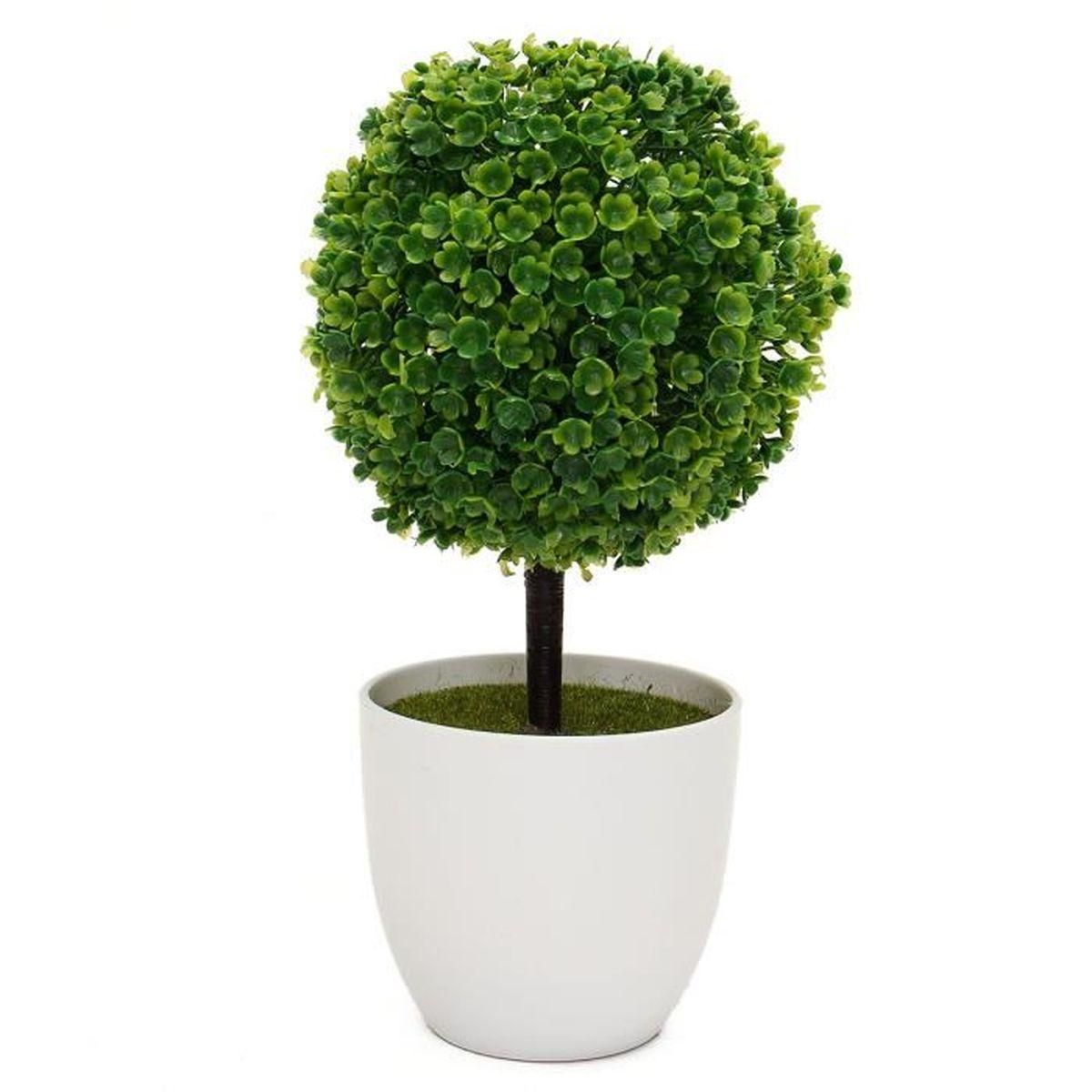 boule artificielle herbes arbre pot pvc maison d coration vert achat vente fleur. Black Bedroom Furniture Sets. Home Design Ideas