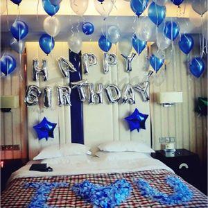BALLON DÉCORATIF  ballons joyeux anniversaire, bannière de papier d'