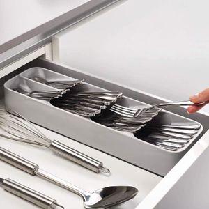 RANGE COUVERTS Boîte de rangement pour vaisselle avec plateau de
