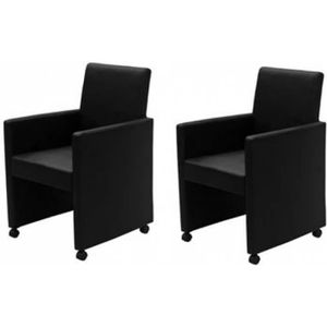 CHAISE Lot de 2 fauteuils chaise de salle à manger salon