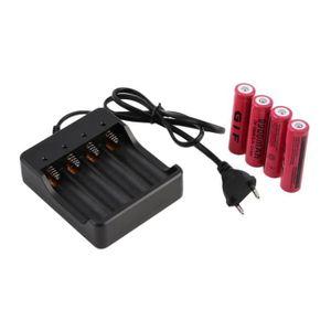BATTERIE INFORMATIQUE 4pcs piles 18650 3.7V 9900mAh batterie rechargeabl