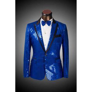 Costume homme mariage Paillettes de couleur de... Bleu - Achat ... a58e96cae578