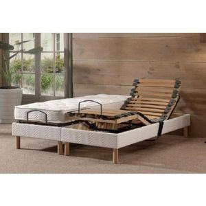 ENSEMBLE LITERIE COMBILATEX Ensemble matelas + sommier 160x200 cm -