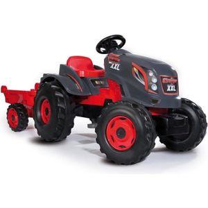 TRACTEUR - CHANTIER SMOBY Tracteur à pédales Stronger XXL + Remorque