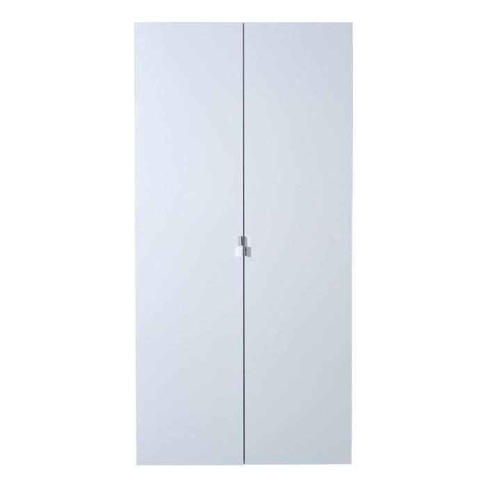 First armoire 2 portes laqu blanc achat vente armoire for Meuble 2 portes laque blanc