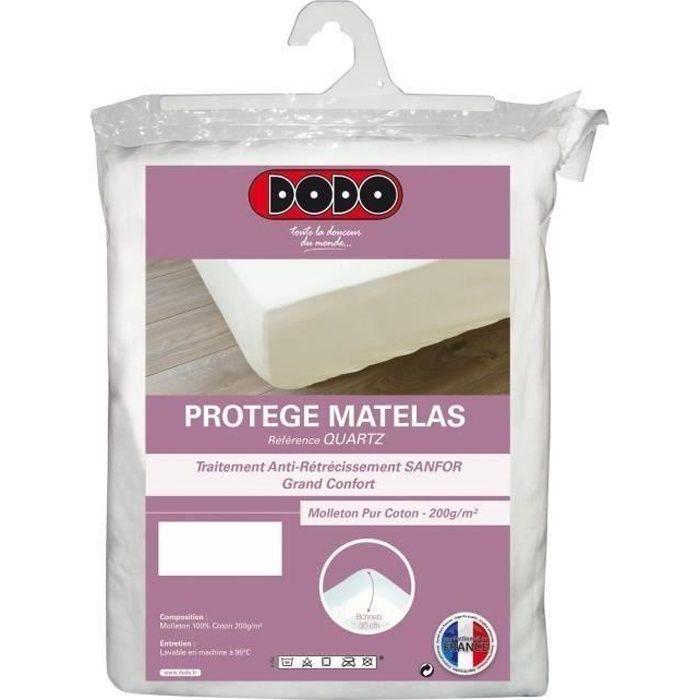 DODO Protège Matelas QUARTZ 160x200cm Forme Housse