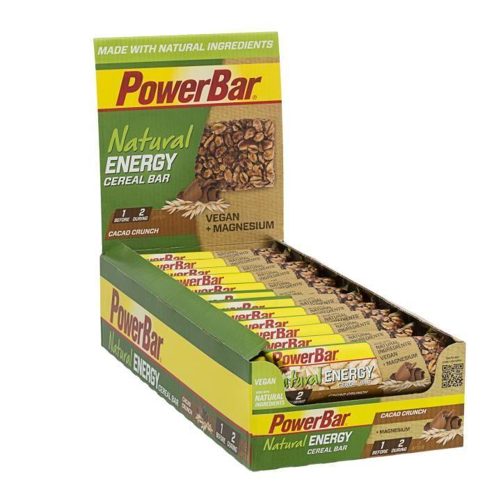 POWERBAR Lot de 24 barres de céréales Natural Energy Cereal - Cacao crunch - 40 g