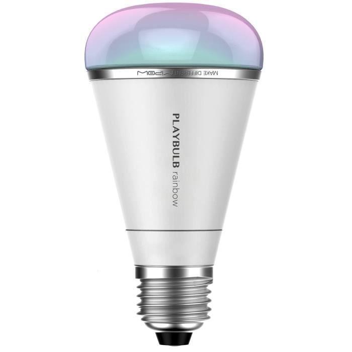 MIPOW PLAYBULB Rainbow ampoule LED connectée E27 puissance 10W équivalence 50W 600lm
