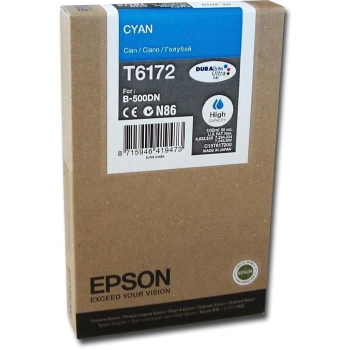EPSON Pack de 1 Cartouche T6172 - Cyan - Haute capacité 100mlCARTOUCHE IMPRIMANTE