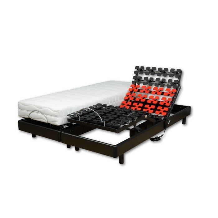 WEBED Ensemble matelas + sommier relaxation 180 x 200 - Mousse - 21 cm - Mi-ferme et équilibré - Noi