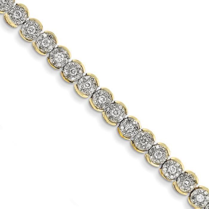 Bracelet 14 carats-Diamant