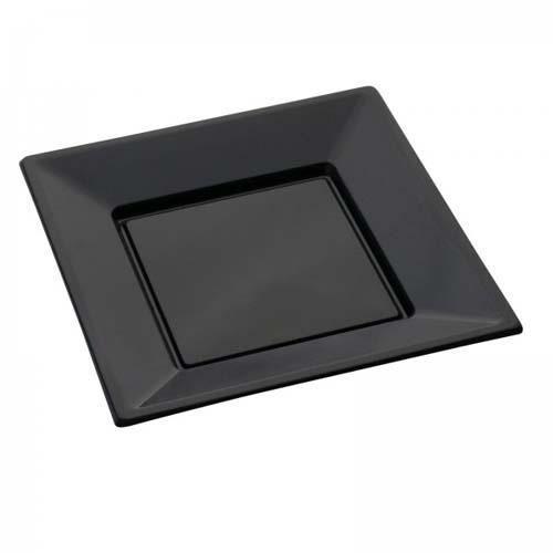 assiette plastique noir achat vente assiette plastique. Black Bedroom Furniture Sets. Home Design Ideas