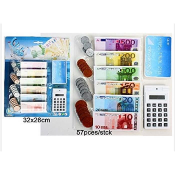 set dinette marchande billet calculatrice monnaie euro pieces achat vente dinette cuisine. Black Bedroom Furniture Sets. Home Design Ideas