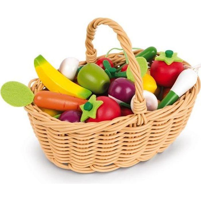 MARCHANDE Janod - Panier de 24 fruits et légumes - Janod