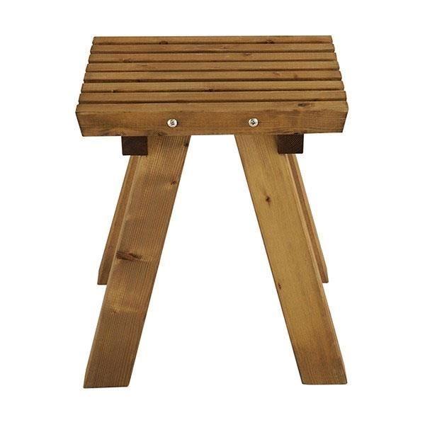 Tabouret de jardin Karel en bois traité - Achat / Vente fauteuil ...