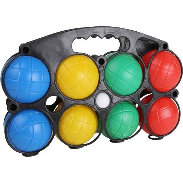 Boules de p tanque en plastique pour enfant luc achat for Poids boule de petanque